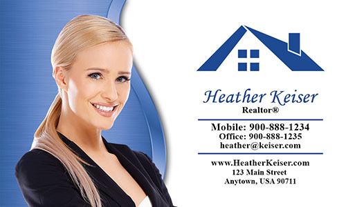 Elegant Real Estate Agent Business Card - Design #106551