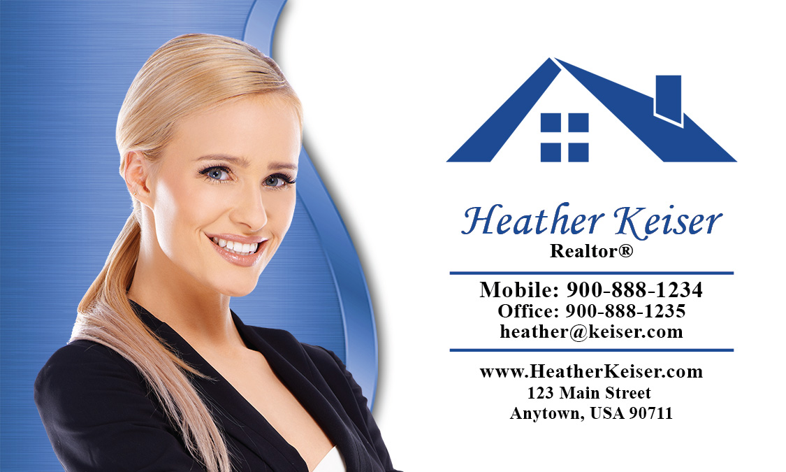 Real estate agents pictures on business cards for Templating agent