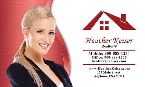 Elegant Real Estate Agent Business Card - Design #106552