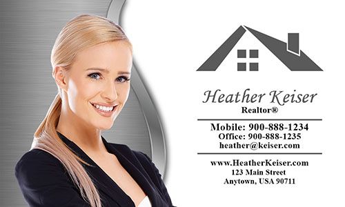 Elegant Real Estate Agent Business Card - Design #106555