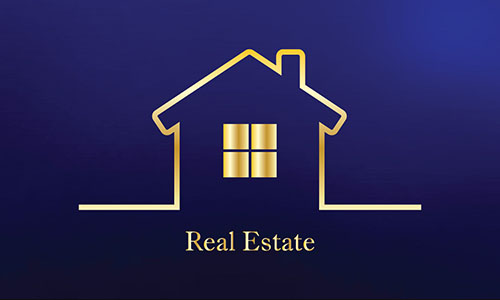 Full Color Real Estate Business Card - Design #106561