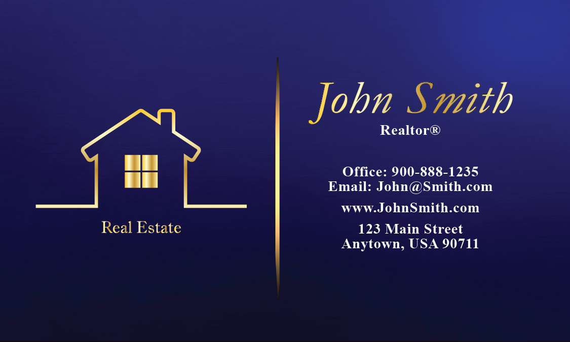 Full color real estate business card design 106561 reheart Gallery