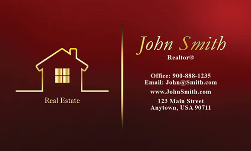 Full Color Real Estate Business Card - Design #106563