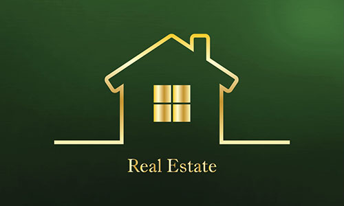 Full Color Real Estate Business Card - Design #106564
