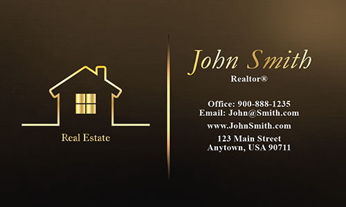 Full Color Real Estate Business Card - Design #106565