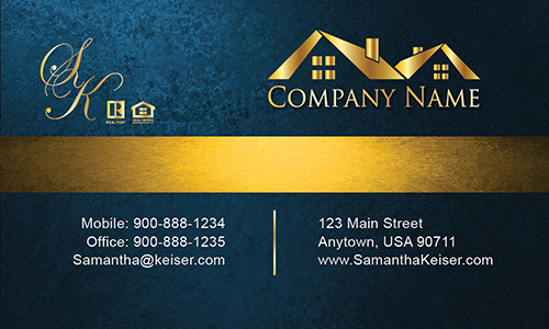 Blue Broker Business Card - Design #106573