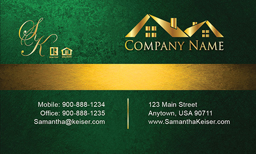 Green Broker Business Card - Design #106574