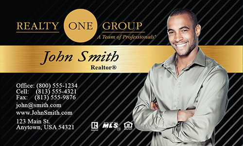 Black Realty One Group Business Card - Design #107021