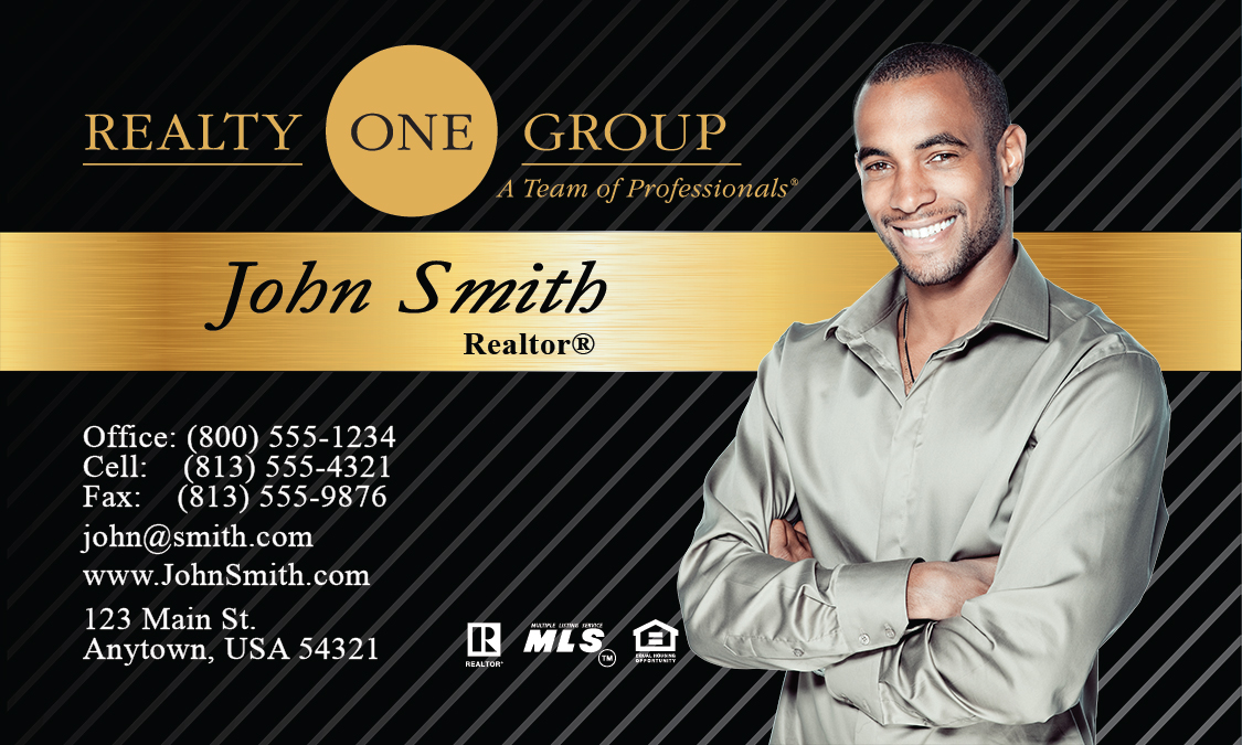 Black Realty One Group Business Card Design 107021