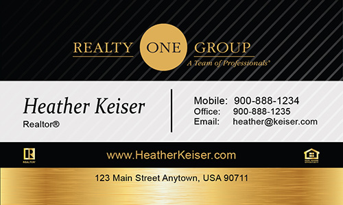Black Realty One Group Business Card - Design #107031