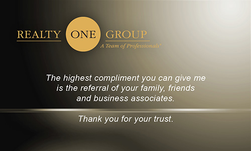 Brown Realty One Group Business Card - Design #107041