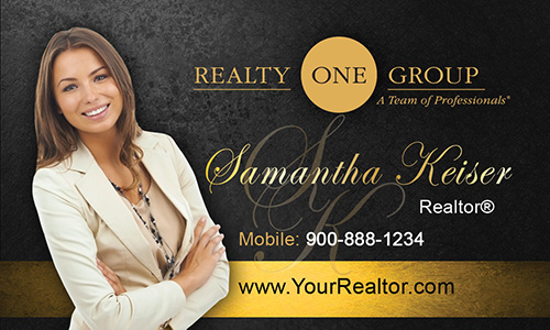 Black Realty One Group Business Card - Design #107051
