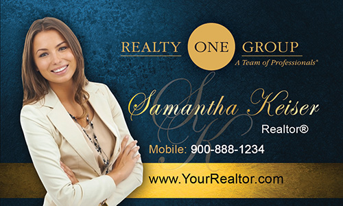 Blue Realty One Group Business Card - Design #107052