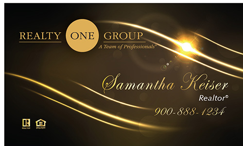 Black Realty One Group Business Card - Design #107061
