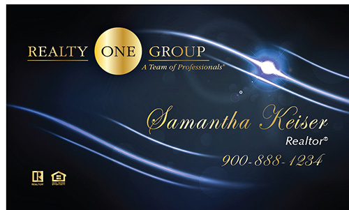Blue Realty One Group Business Card - Design #107062