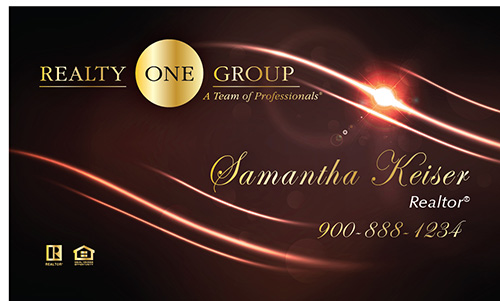 Red Realty One Group Business Card - Design #107063