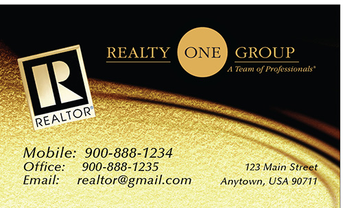 Black Realty One Group Business Card - Design #107071