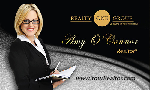 Gray Realty One Group Business Card - Design #107072