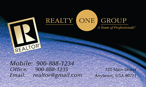 Blue Realty One Group Business Card - Design #107073