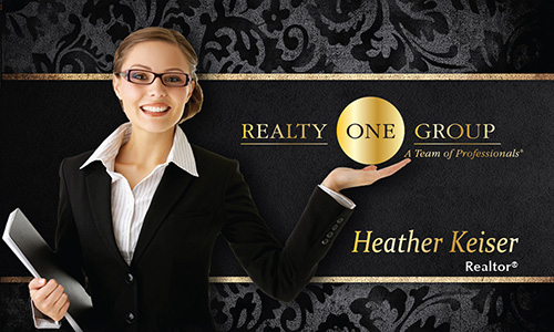 Black Realty One Group Business Card - Design #107091