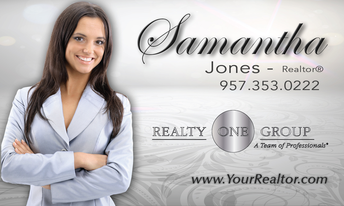 Gray Realty One Group Business Card Design 107101