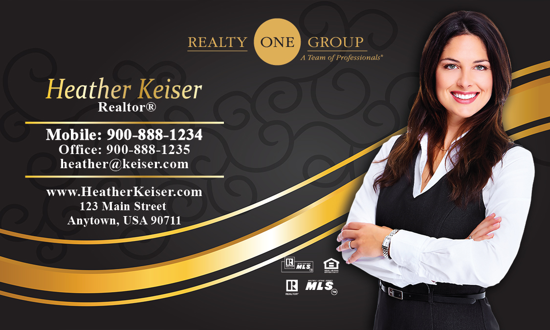 Black Realty One Group Business Card - Design #107111