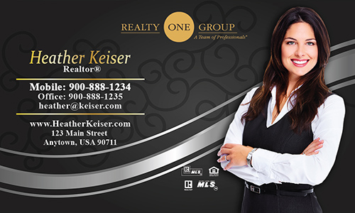 Gray Realty One Group Business Card - Design #107112