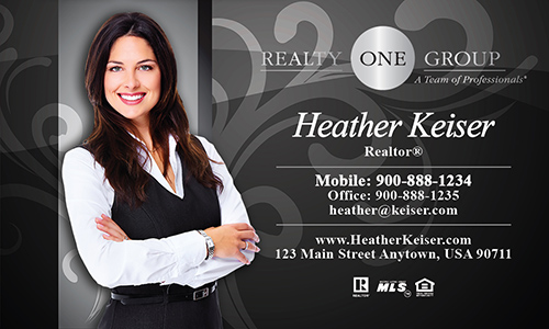 Gray Realty One Group Business Card - Design #107121