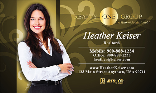 Yellow Realty One Group Business Card - Design #107122