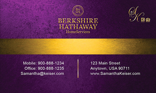 Berkshire hathaway business cards templates printifycards purple berkshire hathaway business card design 108021 colourmoves