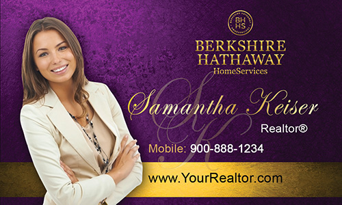 Purple Berkshire Hathaway Business Card - Design #108021