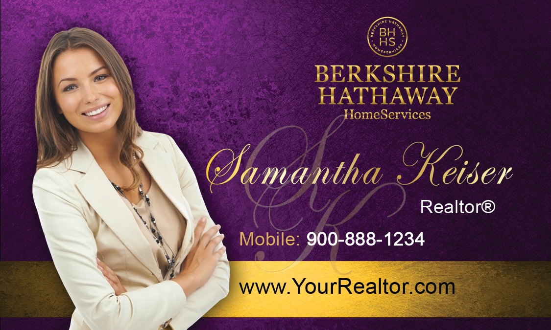 Purple berkshire hathaway business card design 108021 colourmoves