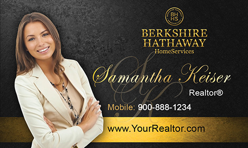 Black Berkshire Hathaway Business Card - Design #108022