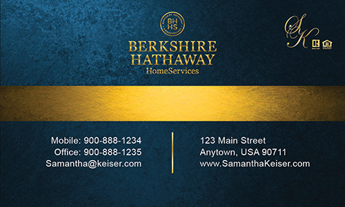 Blue Berkshire Hathaway Business Card - Design #108023