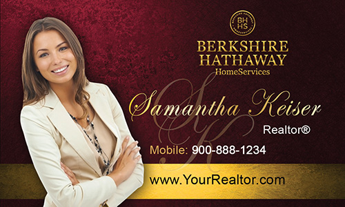 Red Berkshire Hathaway Business Card - Design #108024