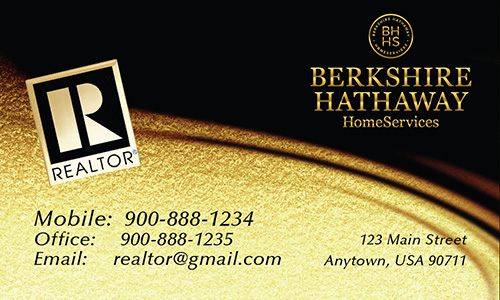 Black Berkshire Hathaway Business Card - Design #108031