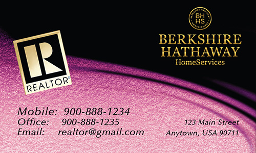 Purple Berkshire Hathaway Business Card - Design #108033