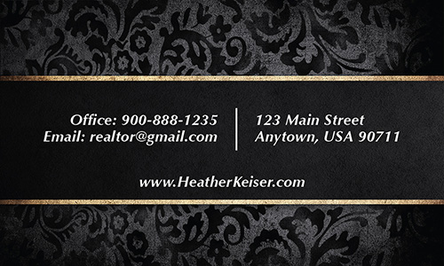 Black Berkshire Hathaway Business Card - Design #108051