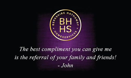 Purple Berkshire Hathaway Business Card - Design #108071