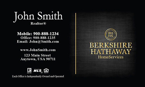 Gray Berkshire Hathaway Business Card - Design #108073
