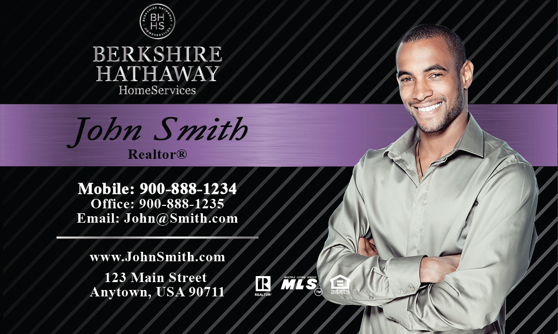 Purple berkshire hathaway business card design 108091 colourmoves
