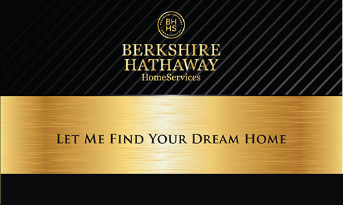 Black Berkshire Hathaway Business Card - Design #108101