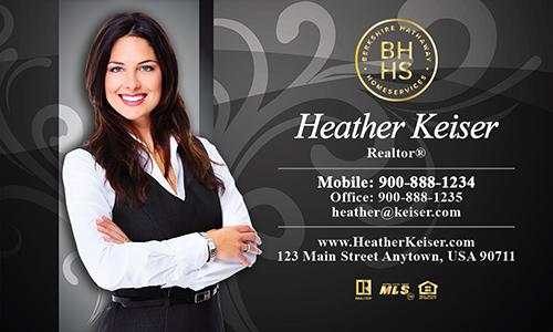 Gray Berkshire Hathaway Business Card - Design #108122