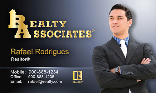 Blue Realty Associates Business Card - Design #109021