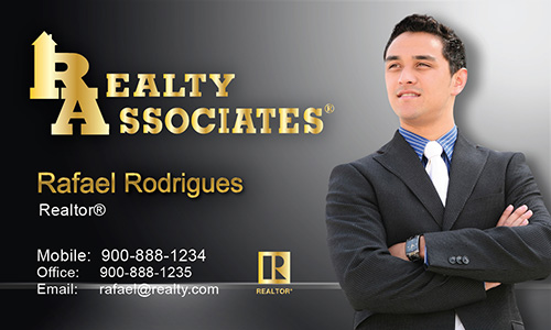 Gray Realty Associates Business Card - Design #109023