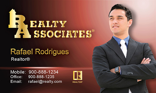 Red Realty Associates Business Card - Design #109024