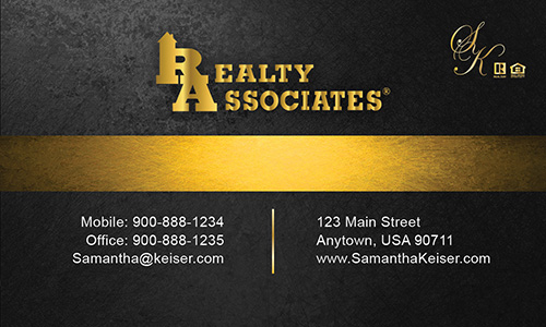 Gray Realty Associates Business Card - Design #109031