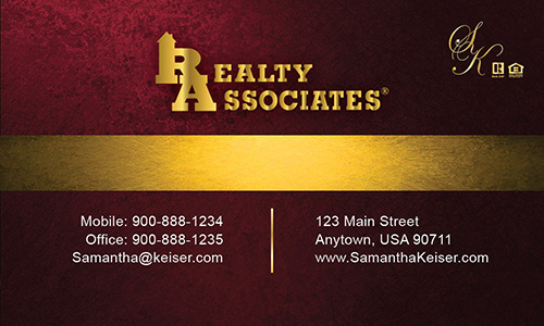 Red Realty Associates Business Card - Design #109032