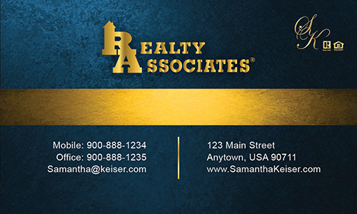 Blue Realty Associates Business Card - Design #109033