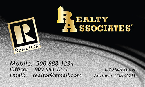 Gray Realty Associates Business Card - Design #109042